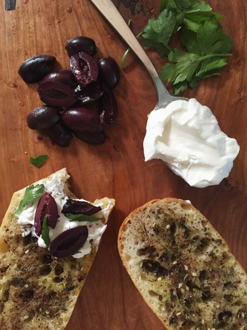 NEW WAYS to 'TOAST' Olive, Labneh, and Za'atar // laurenariza.com // RECIPE SCHMECIPE