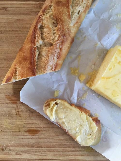 Fresh Bread with Salted Butter // laurenariza.com // RECIPE SCHMECIPE