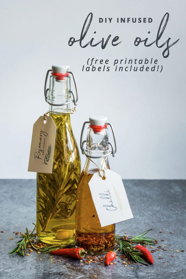 DIY Infused Oils (With Free Printable Gift Labels!) Lauren Caris Cooks