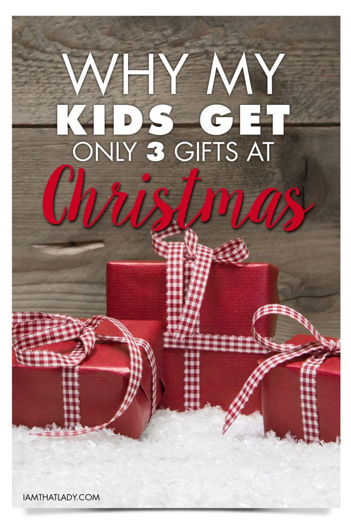 All about the 3 gift Christmas rule and Why We Do It
