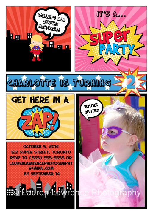 The latest and greatest \u2013 Superhero birthday party invitation