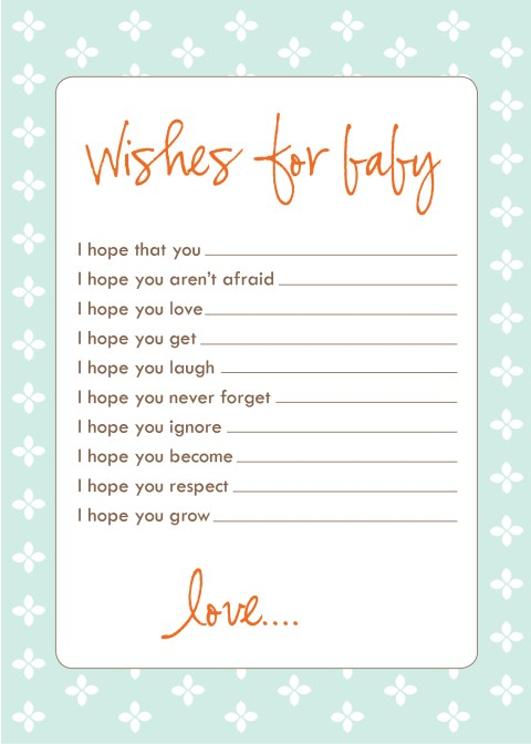 Printable Baby Shower Wishes For Baby Mother Day Crafts Using Baby Food Jars