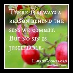 {Lessons Learned} No Sin is Justifiable: How Anthony Stopped Justifying Murder