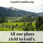 On Plans, Yielding, and Walking With God
