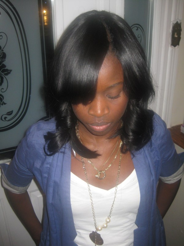 Invisible part Weave all sew in NO GLUE. 1944 x 2592.Sew In Weave Bob Hairstyles With Bangs