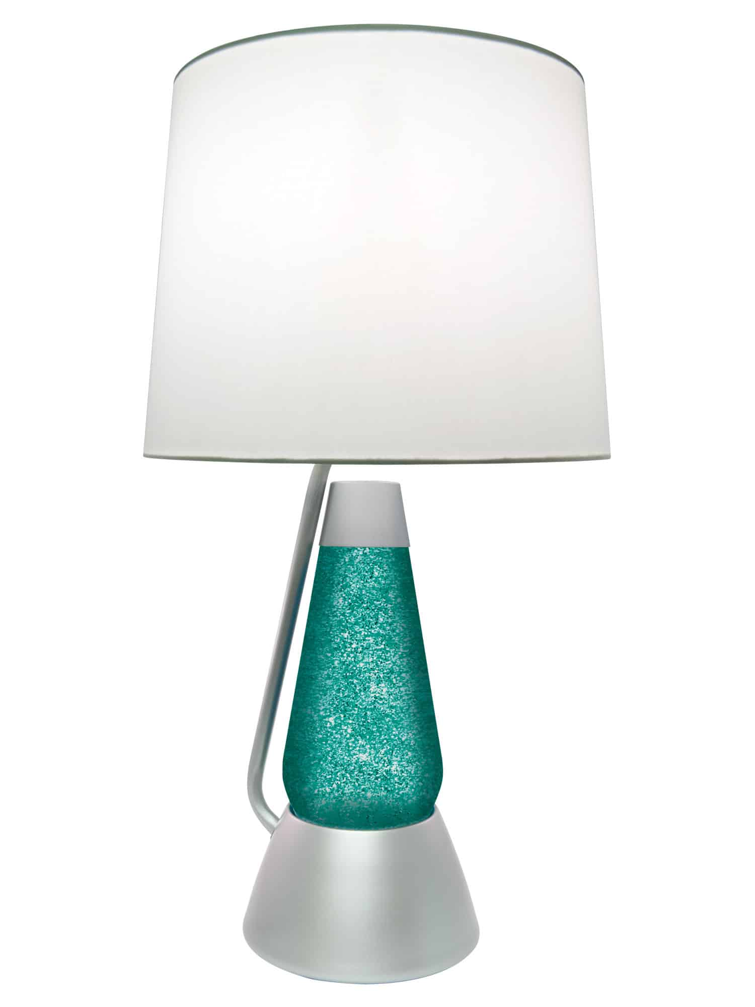 Liquid Lamp 3116 Silver Glitter With Teal Liquid Motion Lamp Lava Lamp