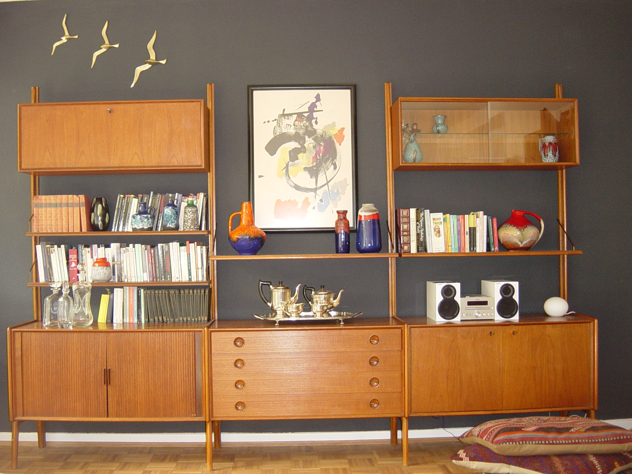 Modern Wall Shelving Mid Century Modern Teak Shelving Unit On Life And Lava