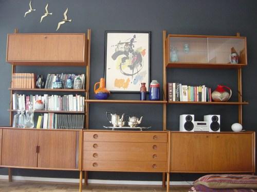 Medium Of Modern Wall Shelf Units