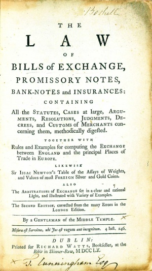 The Law of Bills of Exchange, Promissory Notes, Bank-Notes, and - promissory notes