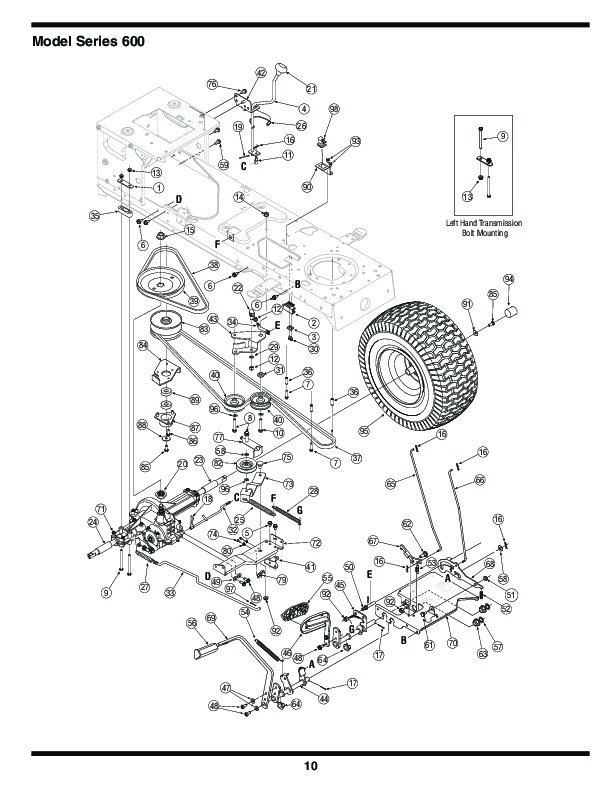 mtd 600 series lawn tractor wiring diagram