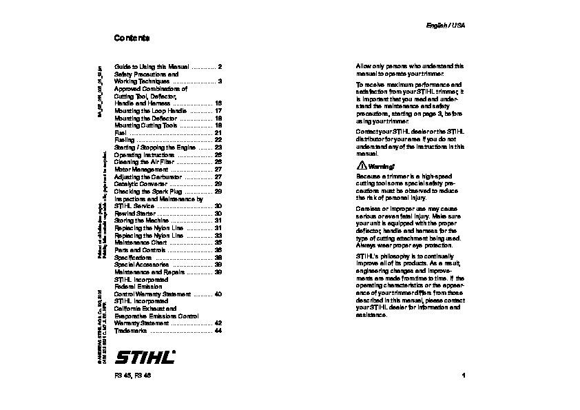 stihl hs 80 parts diagram