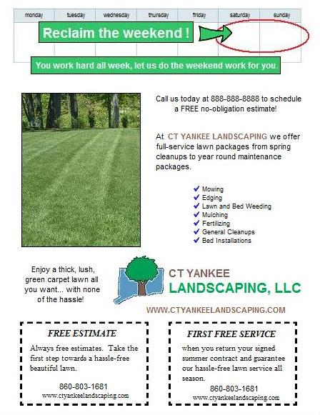 Spring lawn care postcard and flyer design ideas Lawn Care - lawn services flyer