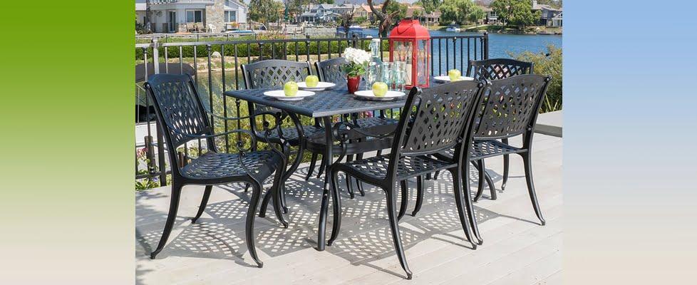 Marietta 7 Piece Cast Aluminum Outdoor Dining Set
