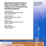 Renewable Energy Prices in State-Level Feed-in Tariffs: Federal Law Constraints and Possible Solutions-January 2010