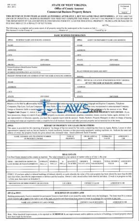 Form STC-1232C Commercial Business Property Return - Property Tax