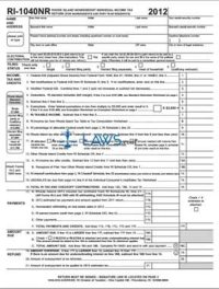 Form RI-1040NR Nonresident Individual Income Tax Return ...