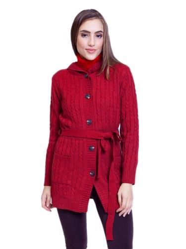 Rose Cardigan Red