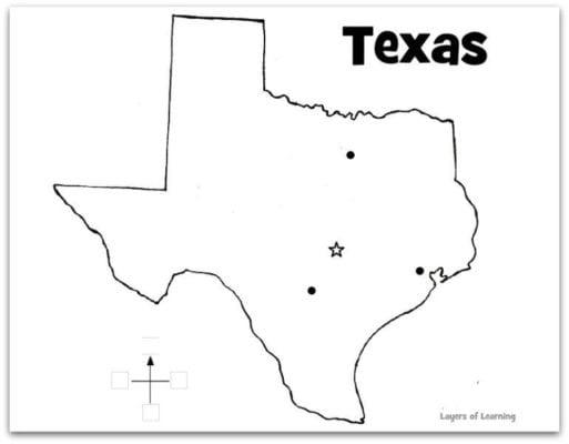 Texas Map Coloring Page - Democraciaejustica