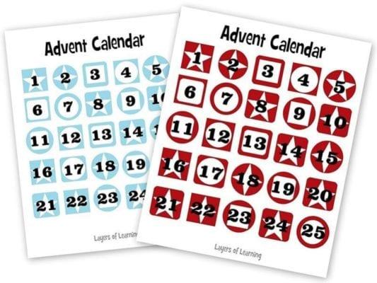 Paper Advent Calendar Template Gallery Template Design Free Download