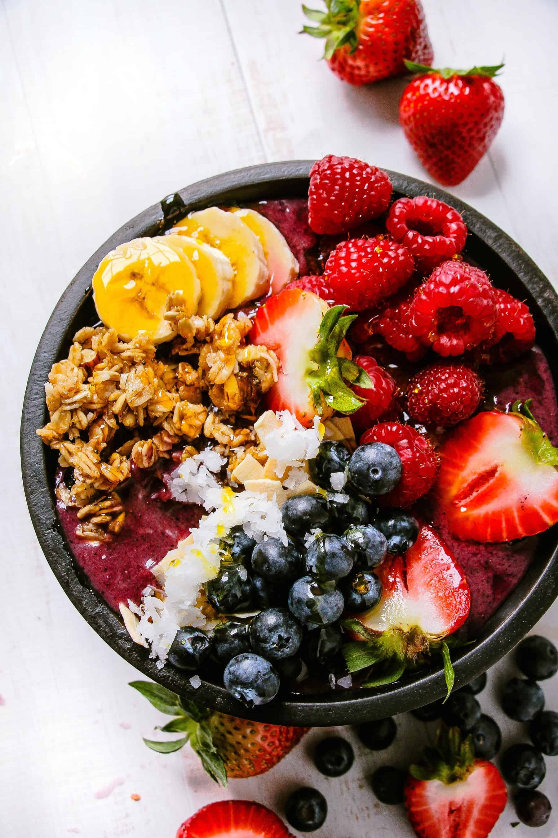 Beautiful Fruit Bowls Homemade Copycat Acai Bowl Layers Of Happiness