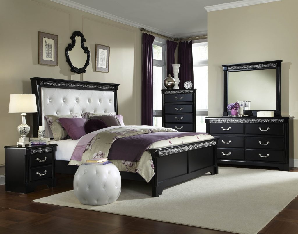 Bedroom Furniture Glass Antique White Master Cherry Queen Bed Poster Layjao