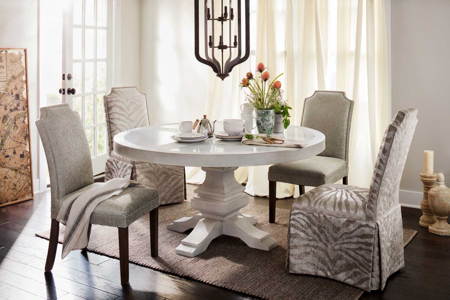 The Lancaster Round Dining Collection Value City Furniture And Layjao