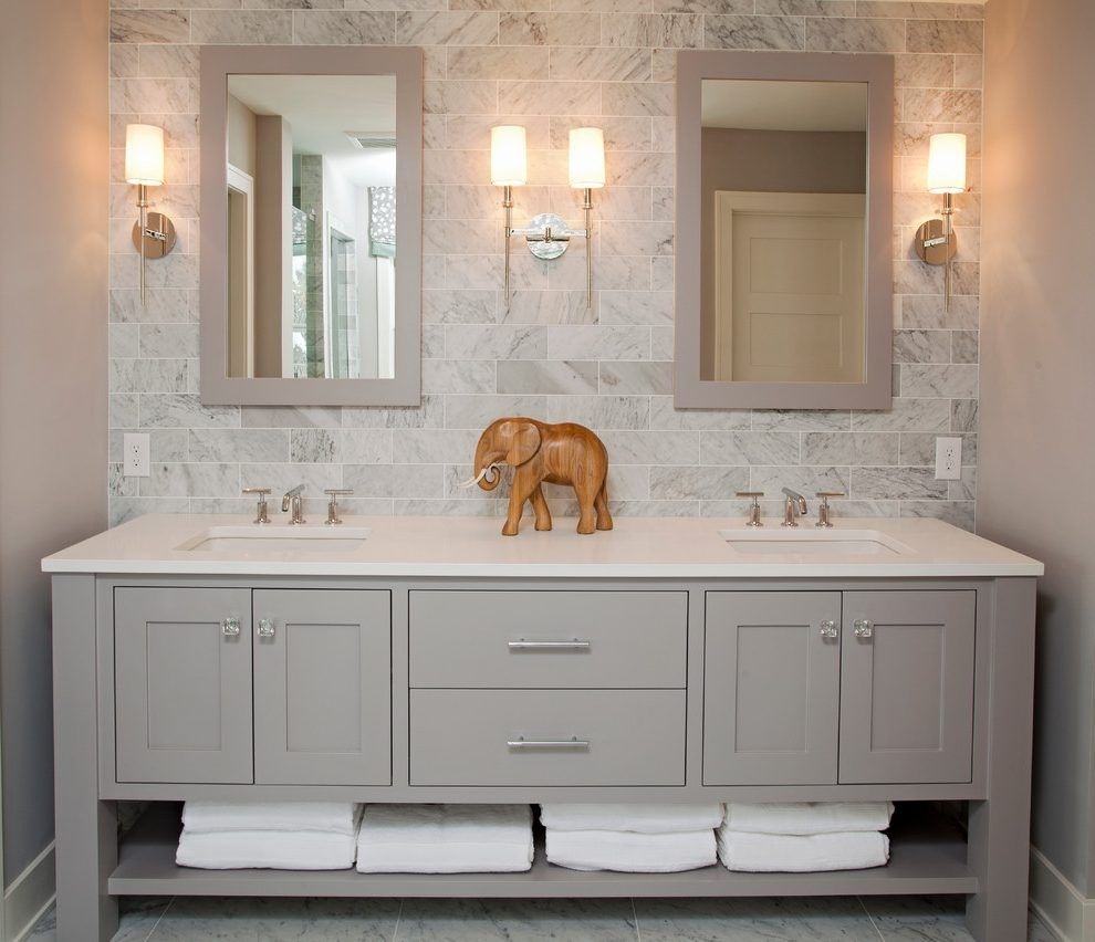 Luxury Bathroom Vanities Bathroom Beach Style With Gray Backsplash Layjao