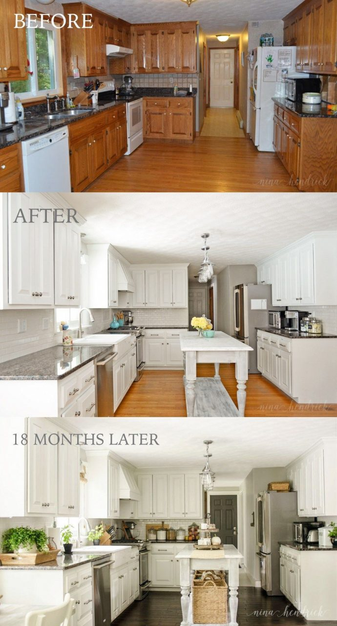 Painting Wood Kitchen Cabinets White Layjao