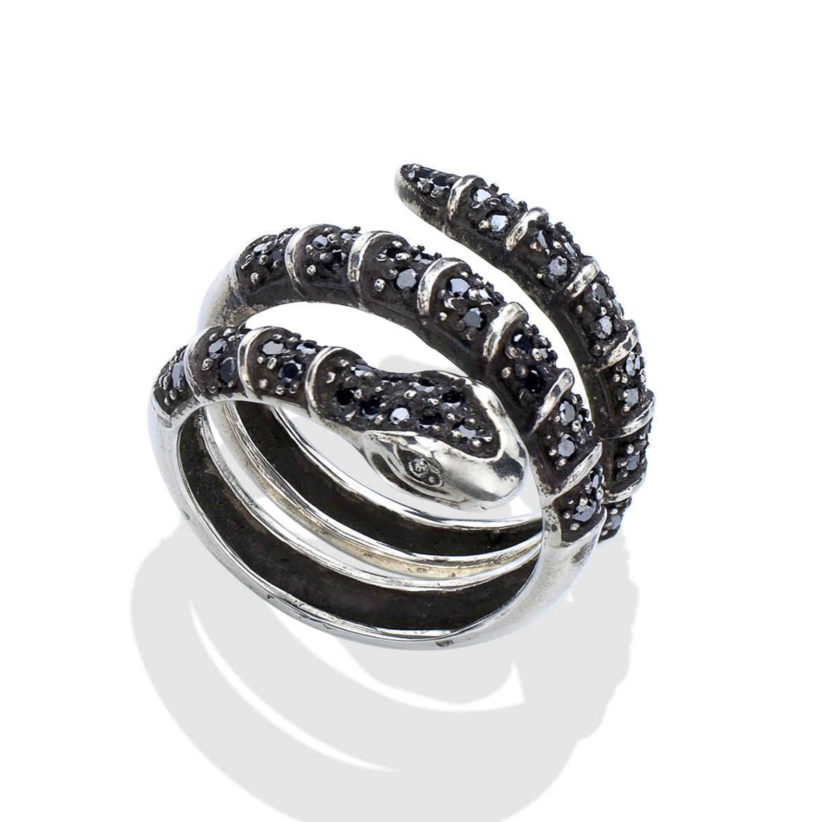 Black Diamond Black Diamond Men S Silver Snake Ring