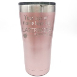 Considerable Ozark Trail 20 Oz Rose G Stainless Steel Tumbler Laser Engraved Personalized Logo Customize Yeti Cups Near Me Personalized Yeti Cups San Antonio