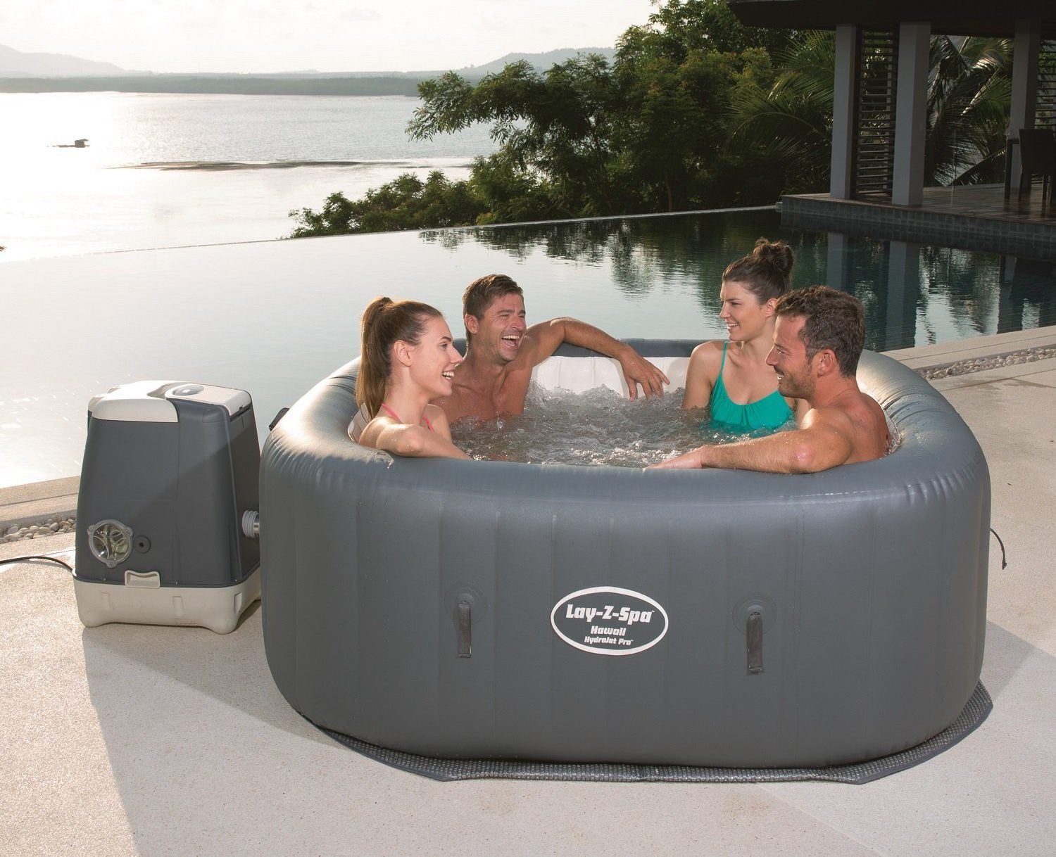 Bestway Pools Lazy Spa Saluspa Hawaii Hydrojet Pro Detailed Review Laze Up