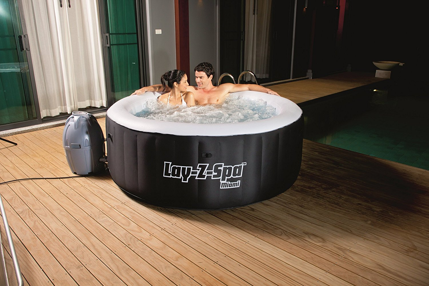 Jacuzzi Pool Pump Reviews Saluspa Miami Airjet Inflatable Hot Tub Detailed Review
