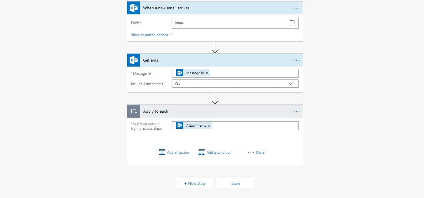 Action Folder Nl Ocr Email Attachments And Store Them On Sharepoint