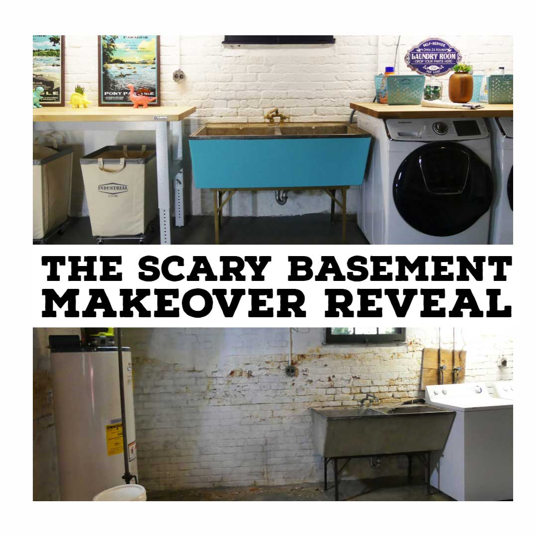 Make Over The Scary Basement Makeover Reveal Lazy Guy Diy