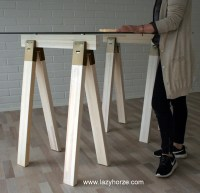 Metal Sawhorse Desk Legs - Hostgarcia