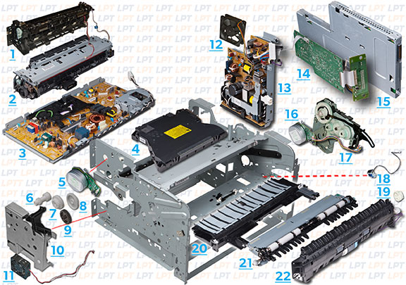 hp deskjet 1220c printer parts and diagrams
