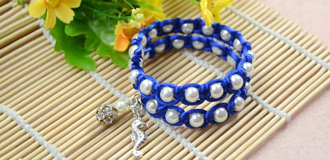 How To Make White Pearl Beaded Macrame Bracelets With