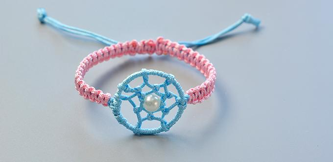 How To Make Simple Friendship Bracelet Decorated With