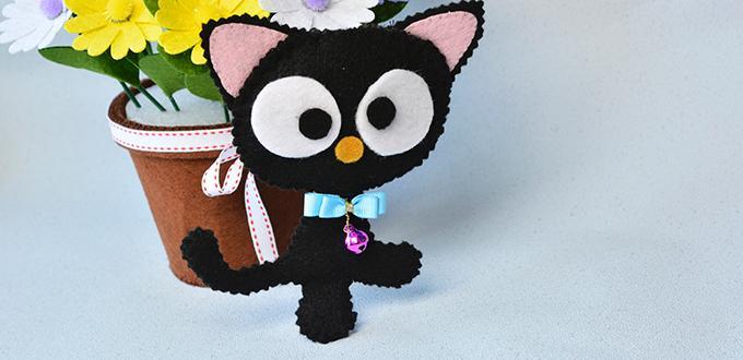 Easy Felt Craft- How to Make Cute Felt Cat for Kids- Pandahall