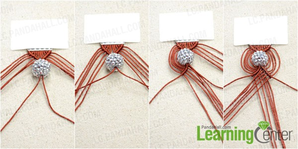 Instructions On Making A 12 String Macrame Bracelet With