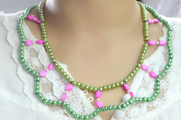 Simple Tutorial On Making Double Strand Beaded Necklace