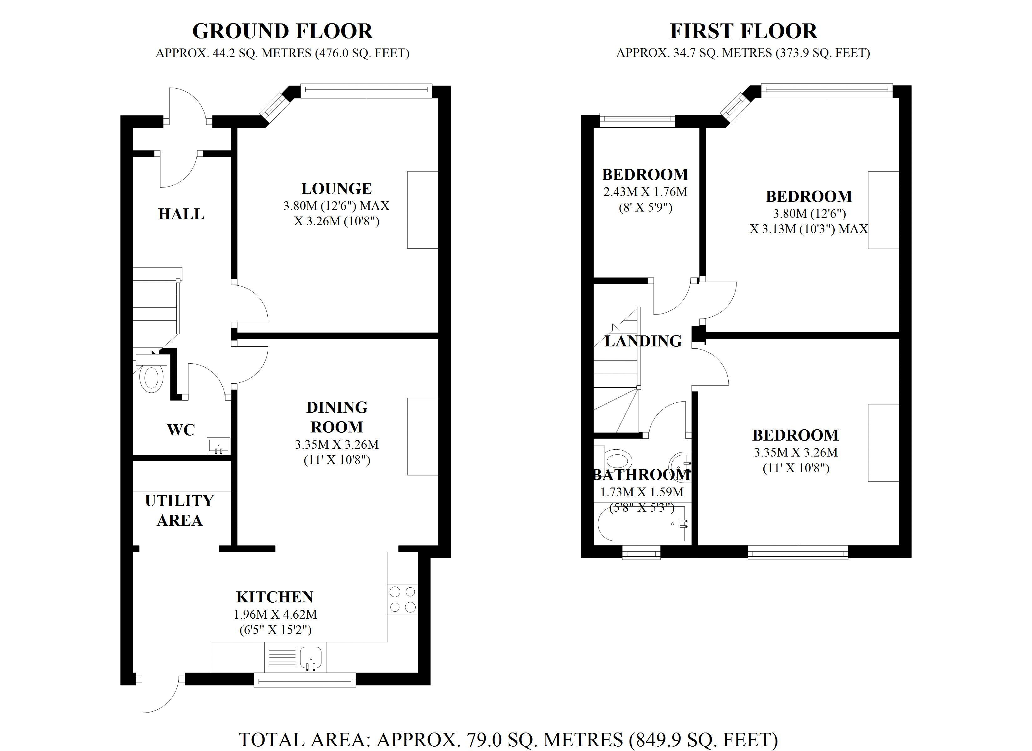 cost of rewiring a 3 bedroom house 2016