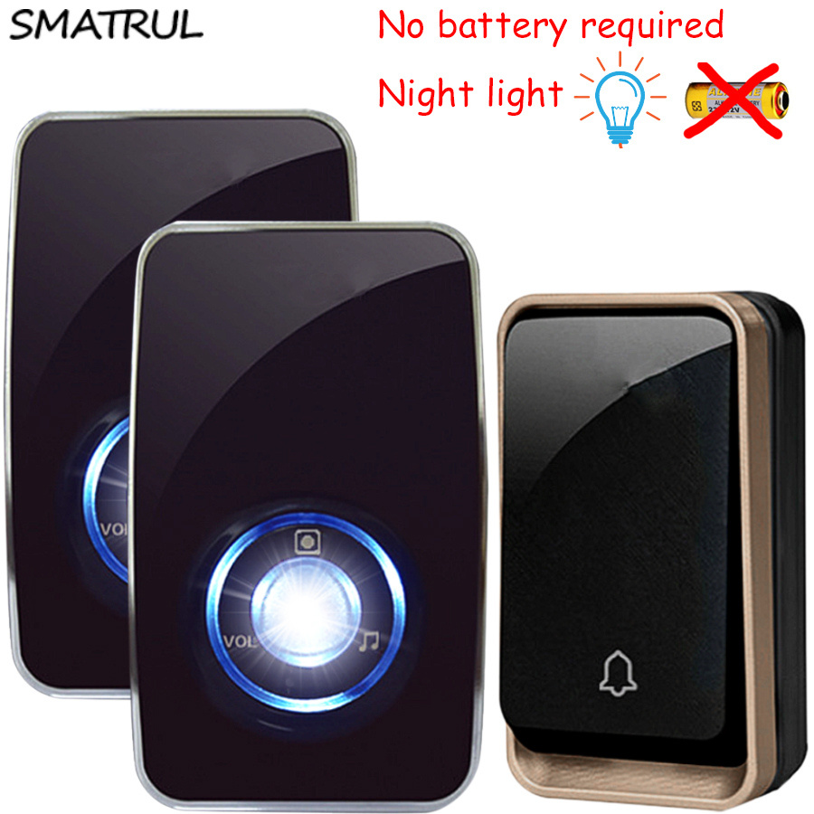 Jb Lighting Wireless Wireless Doorbell With Night Light Sensor