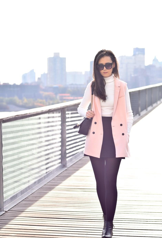 Pink Sleeveless Blazer 11