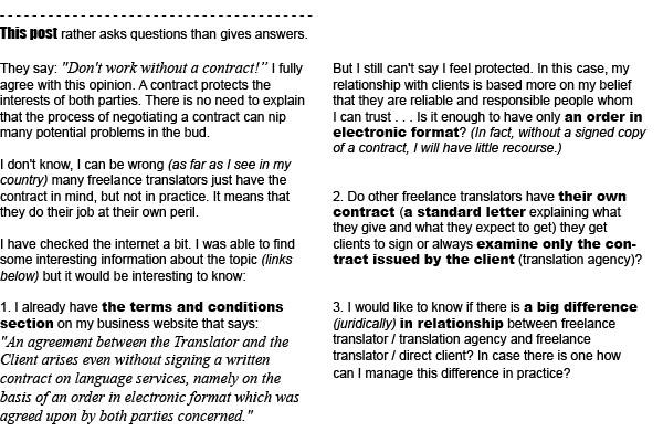 A freelance translator\u0027s contract write, negotiate and sign LD