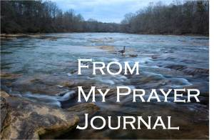"Image of flowing water with textL ""From My Prayer Journal."""