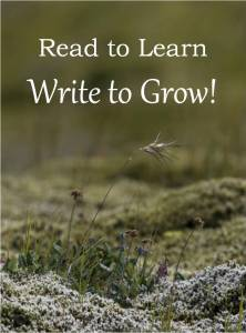 Read to Learn - Write to Grow.