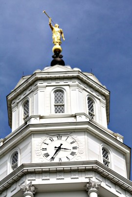 Octagon-shaped tower on Nauvoo Temple, with several elements repeated in eights.