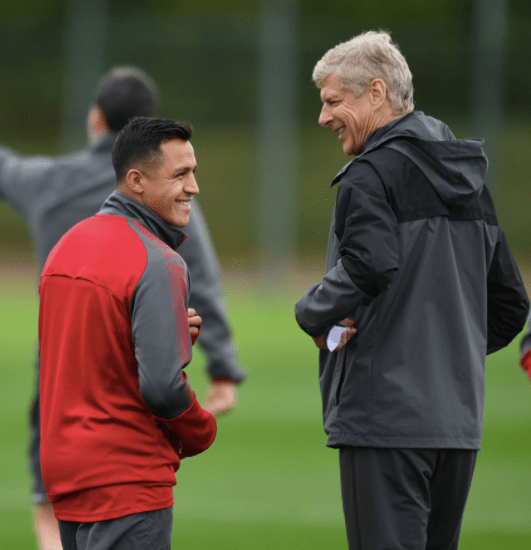 Wenger showing Sanchez the Neymar transfer news