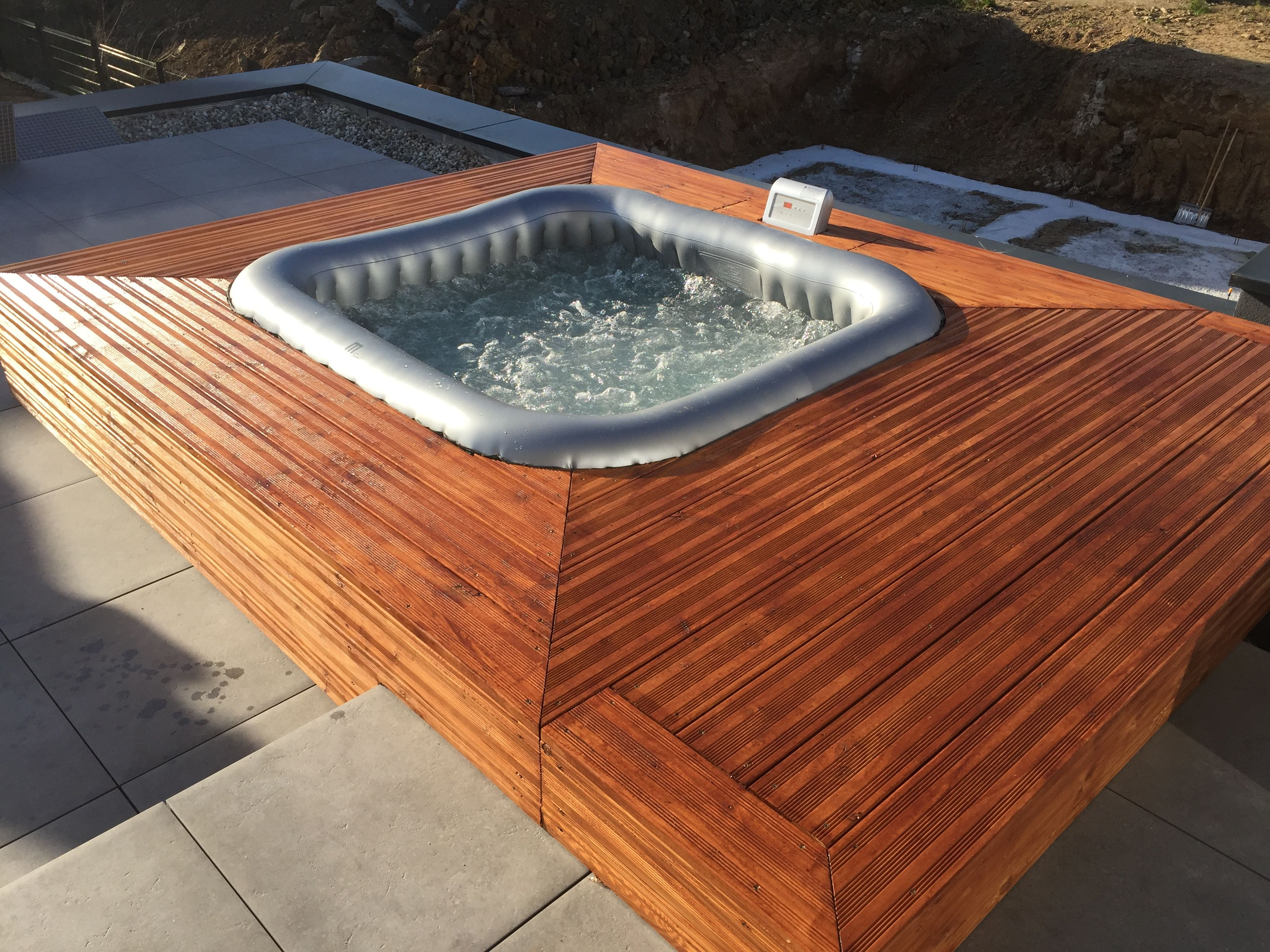 Habillage Pour Spa Gonflable Spa Gonflable Habillage Bois